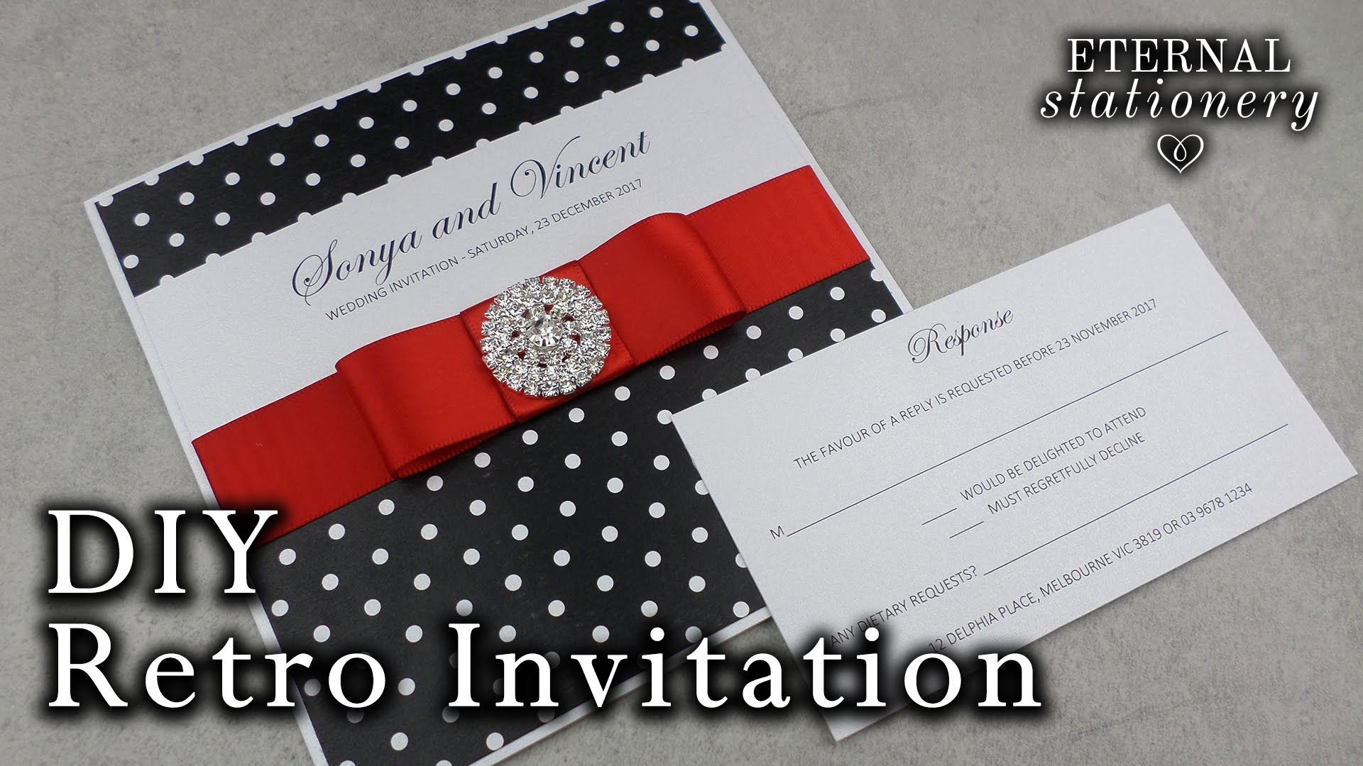1950s Pin up inspired Wedding invitations   DIY Classic Retro ...