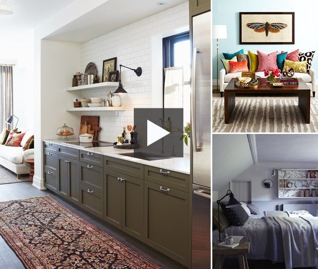Benjamin Moore Starts A Trend With Stenciled Kitchen: Light Cabinet Colour, Titanium (OC-49), Dark Cabinet