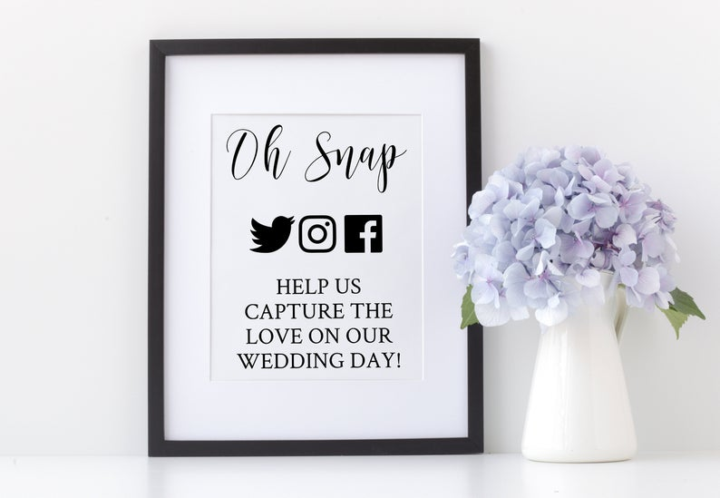 Download Printable 'Oh Snap help us capture the love' PNG/SVG ...