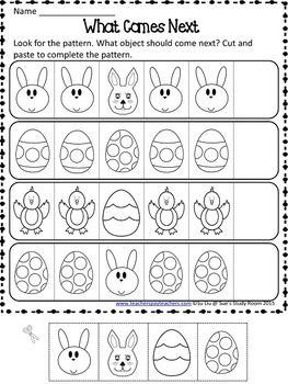Easter Patterns Worksheets   Pattern worksheet, Pattern ...