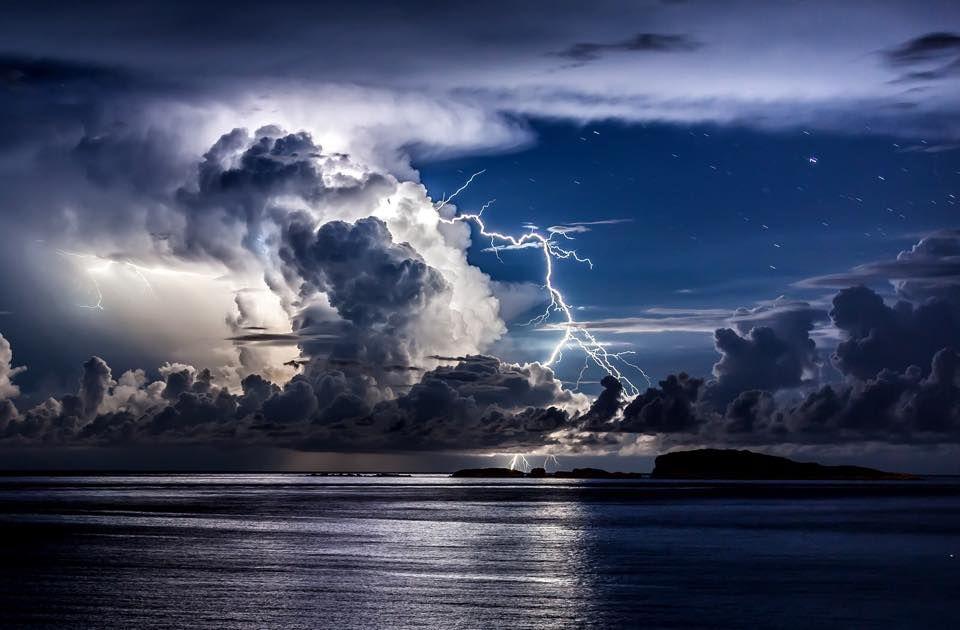 Storm on the coast at Dubrovnic, Croatia.