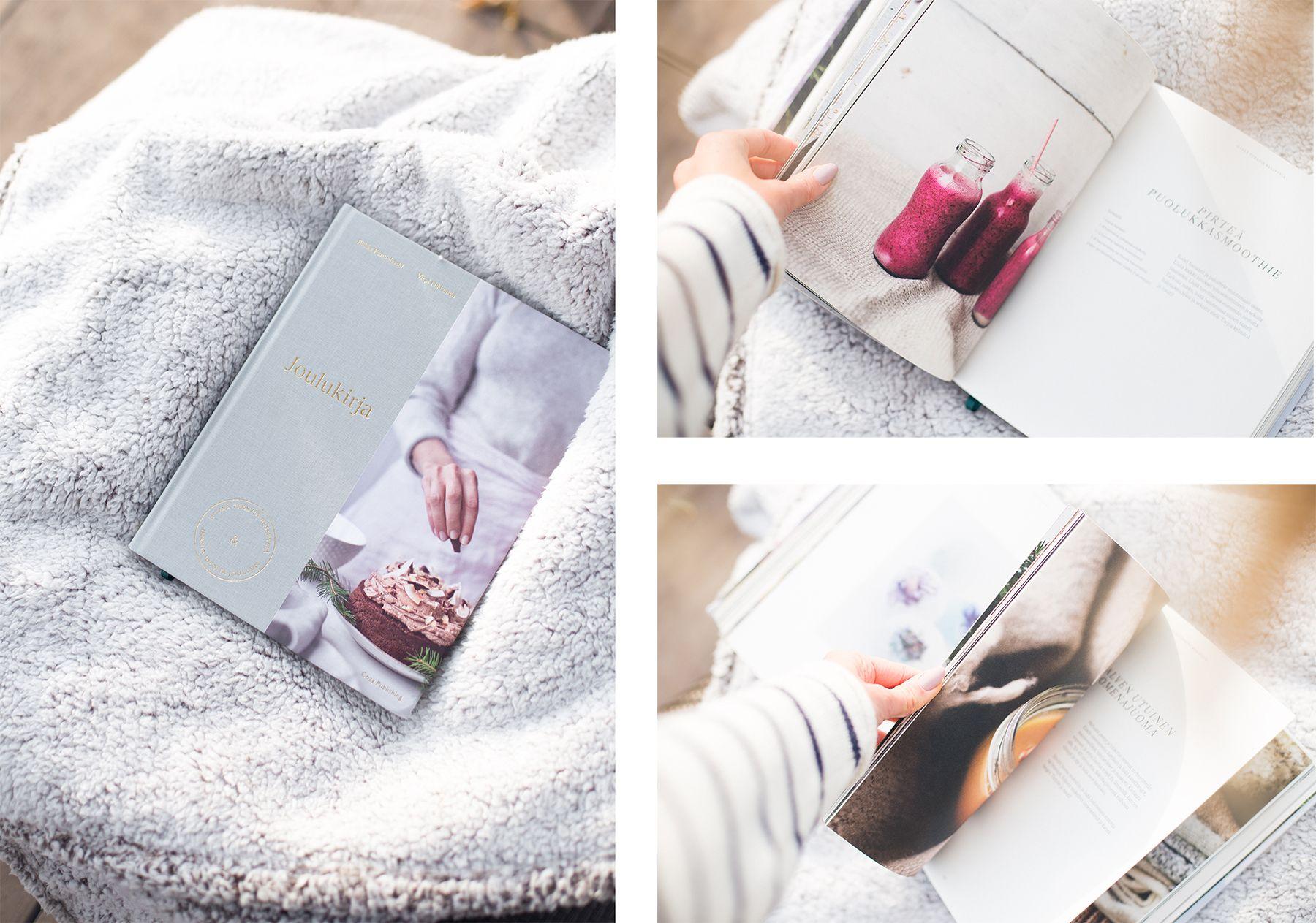 Paketista löytyi kahden inspiroivan, ihanan ja lahjakkaan naisen, Riikka Katinkosken ja Virpi Mikkosen, Joulukirja. Kaunis, tunnelmallinen ja houkutteleva kirja, joka sai minut rauhoittumaan teekupin ääreen - ja vei levolliseen joulutunnelmaan.