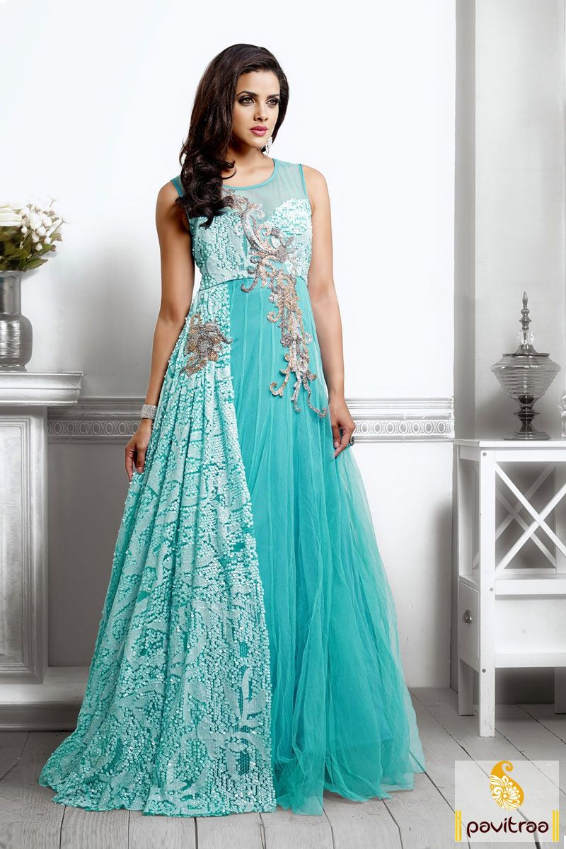The grand design released, the ice blue net bridal Salwar Suit with ...