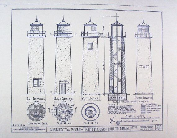 Wonderful 24 x 36 blueprint of the minnesota lighthouse made the wonderful 24 x 36 blueprint of the minnesota lighthouse made the old fashioned way malvernweather Images