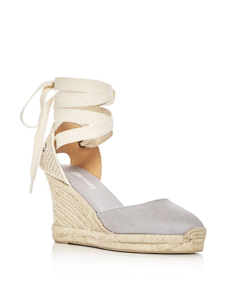 b6da3dd58f46 Soludos Women s Lace Up Espadrille Wedge Sandals