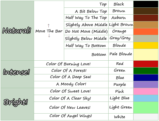 Animal Crossing New Leaf Hair Style Color Guide Nintendodojo Forums