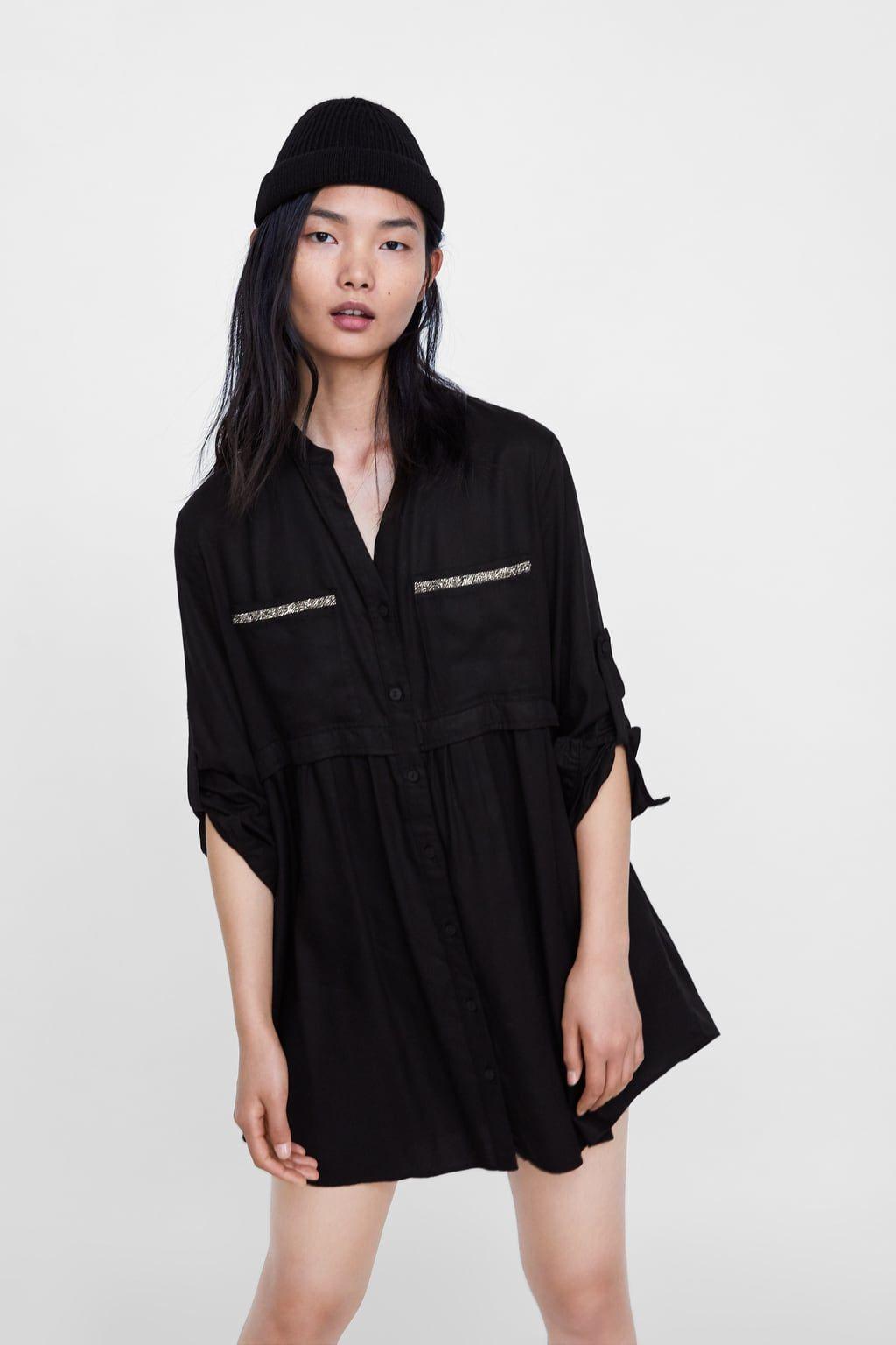 be2dee4f49 BEADED SHIRT DRESS   Zara....Woman   Clothes, Shirt dress, Women