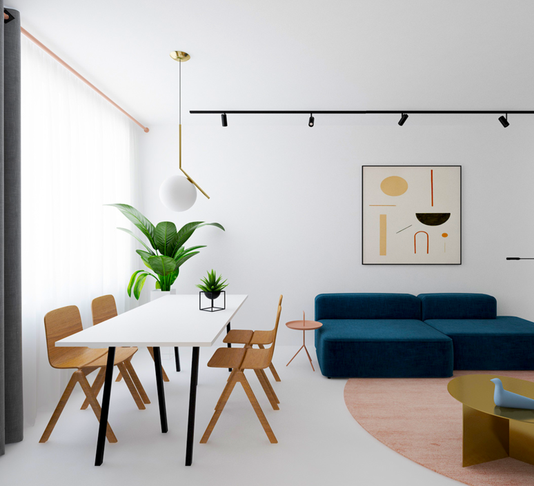 Homedesigning 3 light and bright apartments celebrating white space