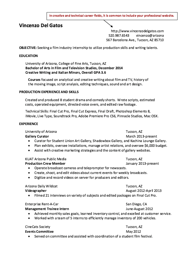Film Industry Resumes Examples Resume Cv Film Industry Resume Resume Cv