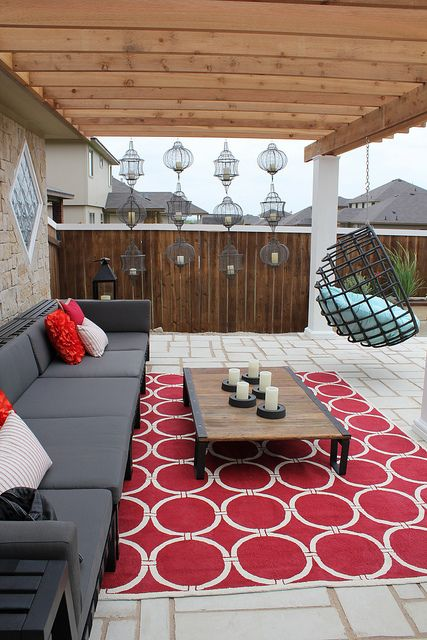 I like the couches for patio furniture instead of table and chairs.