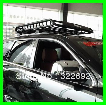 Hi Quality Black Carbon Steel Car Roof Rack Basket Roof Mounted Cargo Rack Fits Jeep Patriot Compass Wrangler Grand C Car Roof Racks Roof Rack Roof Rack Basket