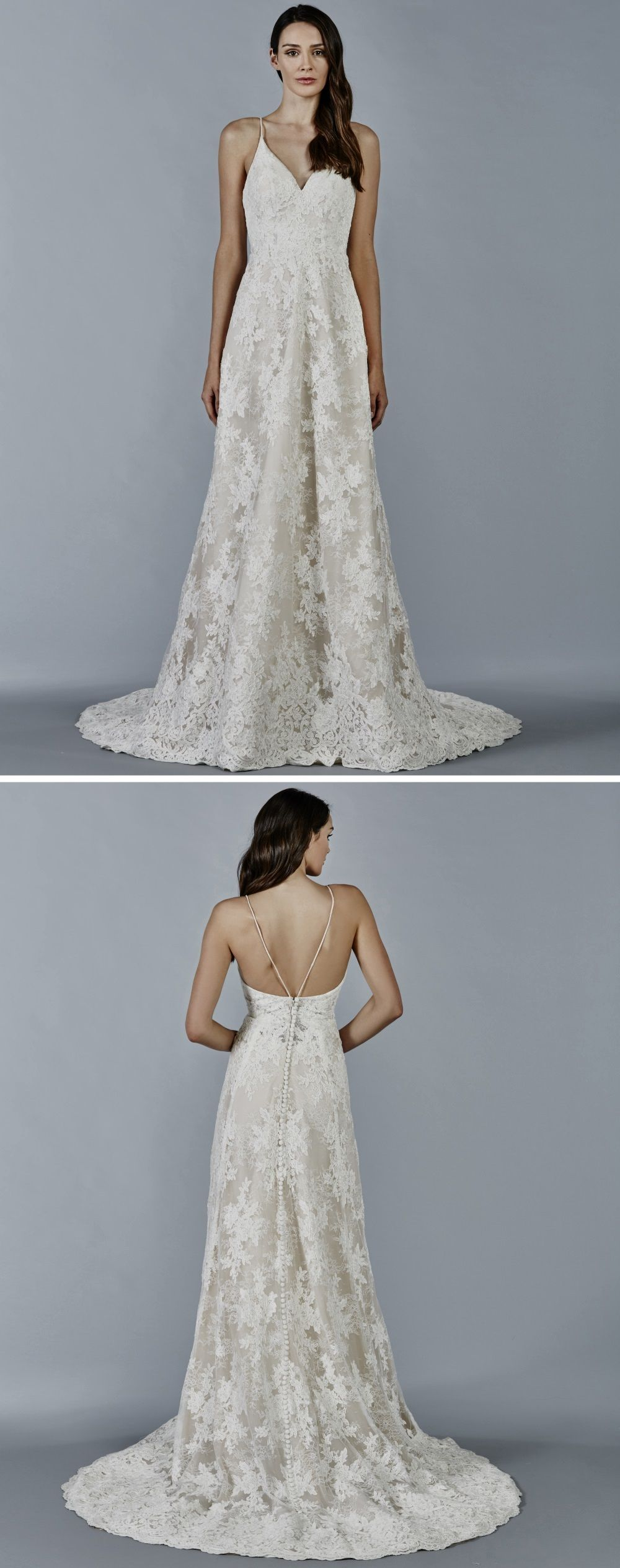 Maia wedding dress by kelly faetanini chantilly lace and