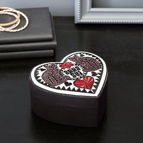 PB Teen Anna Sui Embroidered Heart Jewelry Box 25 liked on