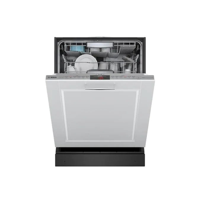 Bosch 800 40 Decibel Top Control 24 In Built In Dishwasher Custom Panel Energy Star Lowes Com Built In Dishwasher Energy Star Paneling