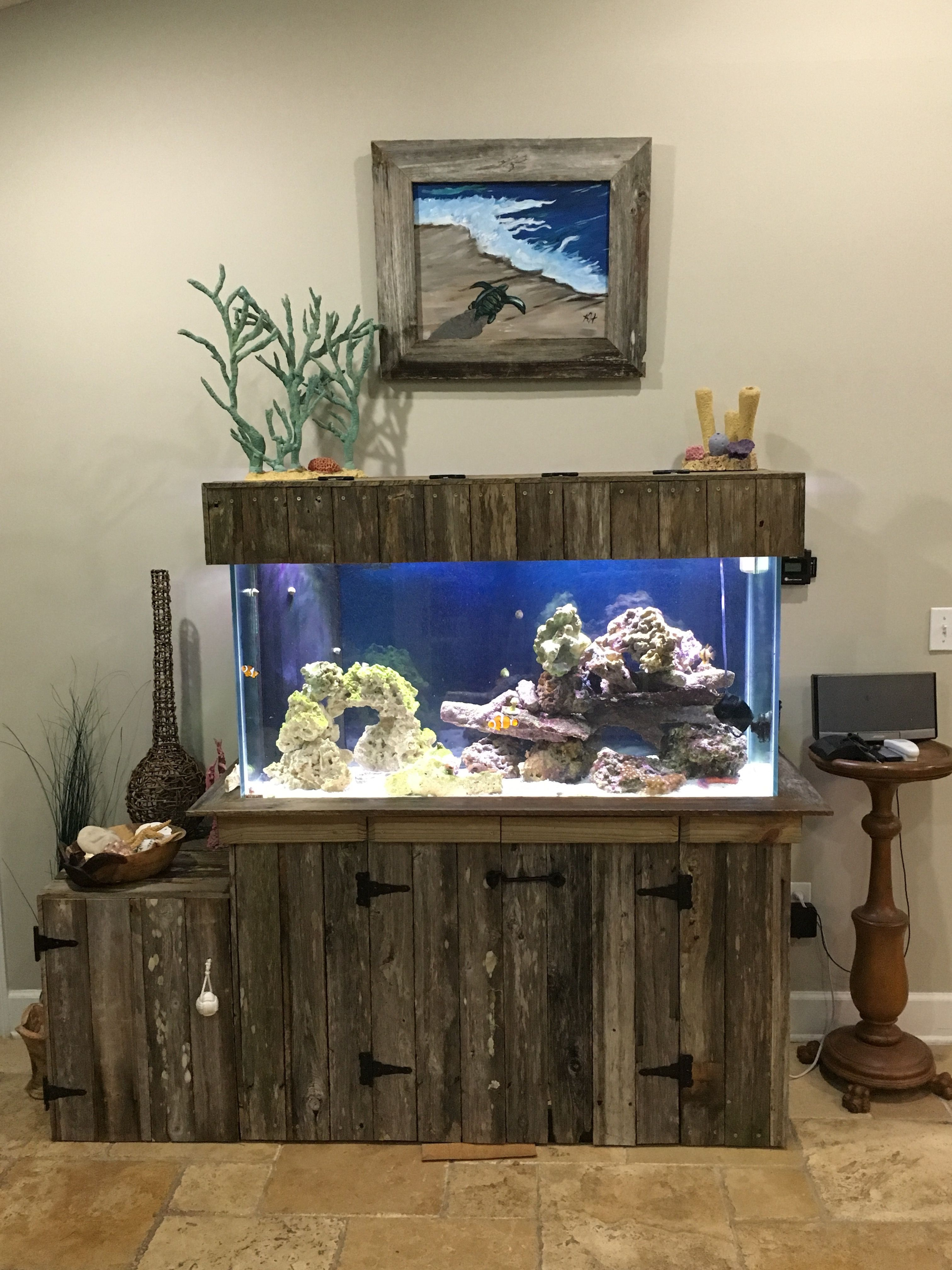 I Refaced An Old Oak Fish Tank Cabinet With Reclaimed Lumber Old