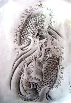 Japanese Koi Fish Stencil Monochrome Koi Fish Tattoo Koi Tattoo Design Japanese Koi Fish Tattoo Koi Fish Tattoo