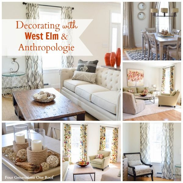 New Homes Decorated Models: Decorating Inspiration With West Elm + Anthropologie