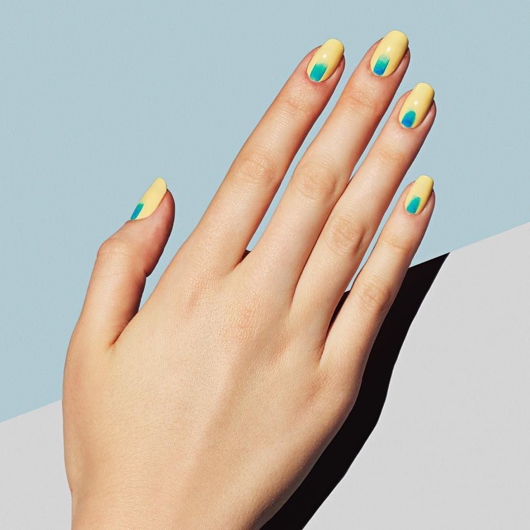 Paint Spill: a bold brushstroke manicure that's gallery-worthy. #paintboxmani #nails #nailart