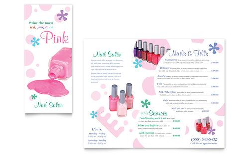 Cute! -- Nail Salon Brochure Template Photoshop\/Typography - free brochure template for word
