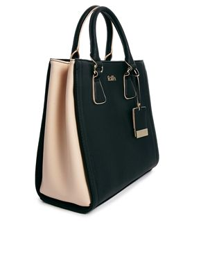 Image 4 Of Faith Black Contrast Tote Bag