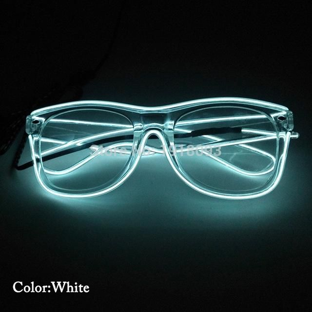 Glowing Product 5pieces EL Wire Glasses with DC-3V Steady on Driver ...