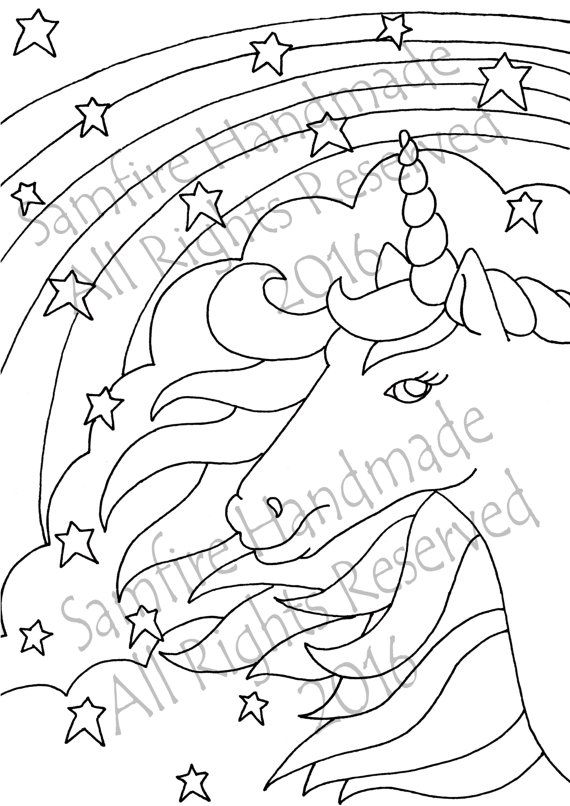 Original Art Work Downloadable Colouring In Sheet A4 A Beautiful