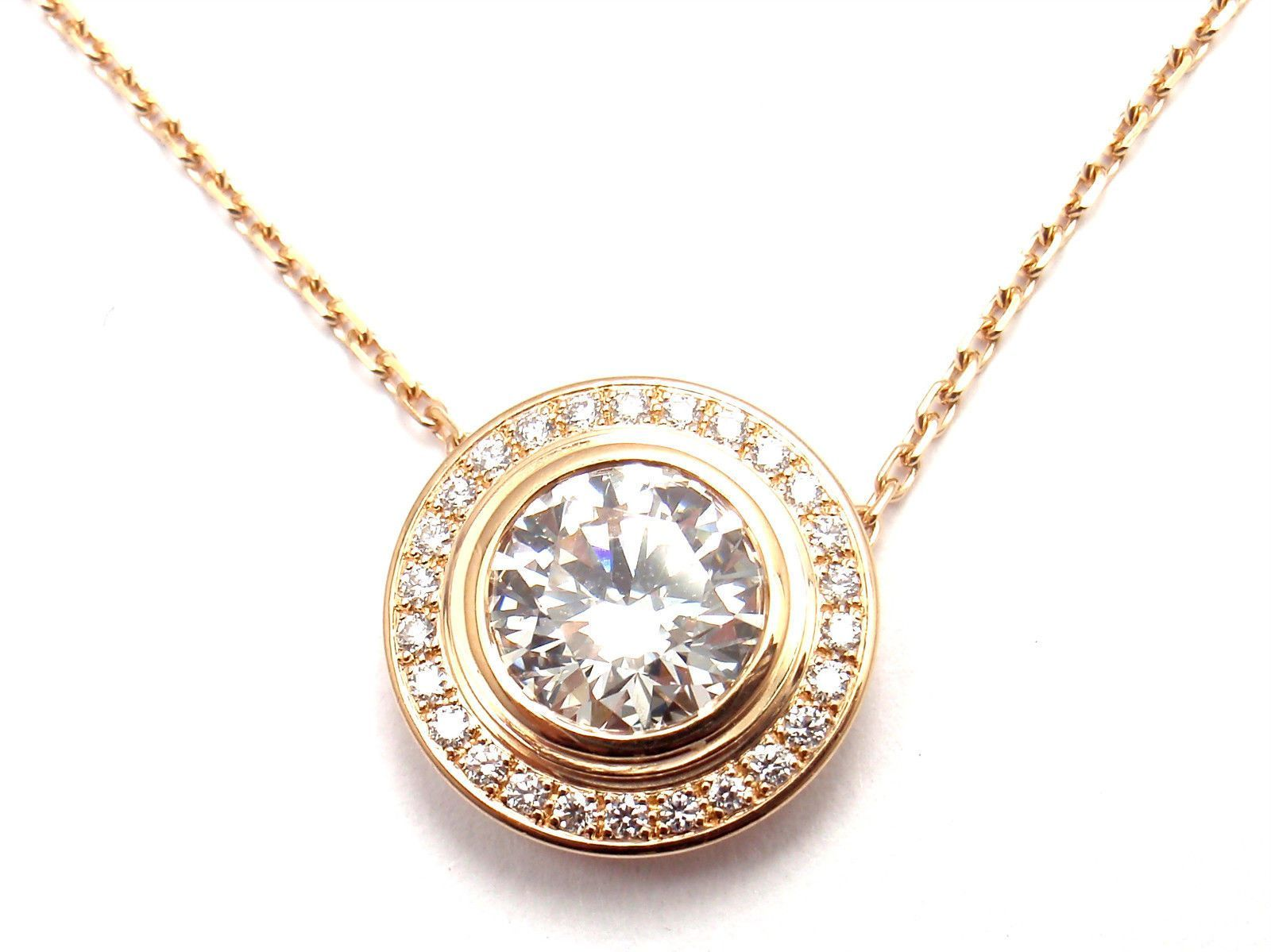f265a71a0 Cartier D'Amour 18k Rose Gold 1.04ct Diamond Pendant Necklace GIA | Fortrove