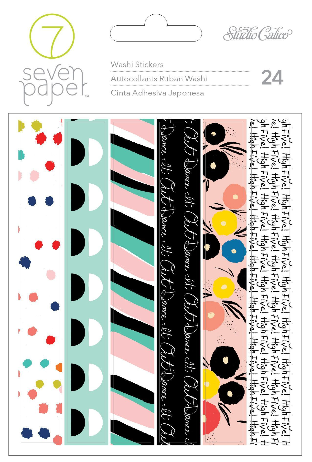 Scrapbook paper dollar general - American Crafts 4 Sheets 24 Piece Studio Calico Goldie Washi Tape Sticker Book Relationships At Dollar General