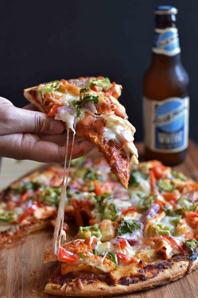 East meets West…!!! Tandoori chicken in Pizza… a perfect way to satisfy your western food cravings with an eastern flavour. One of my July 4th variety recipes …! #pizza