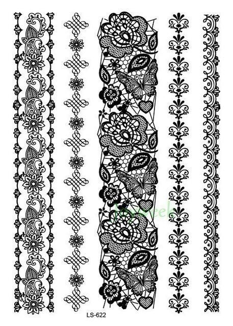 Henna Wrist Designs Lace: Lace Temporary Tattoos #tattooremovalproducts