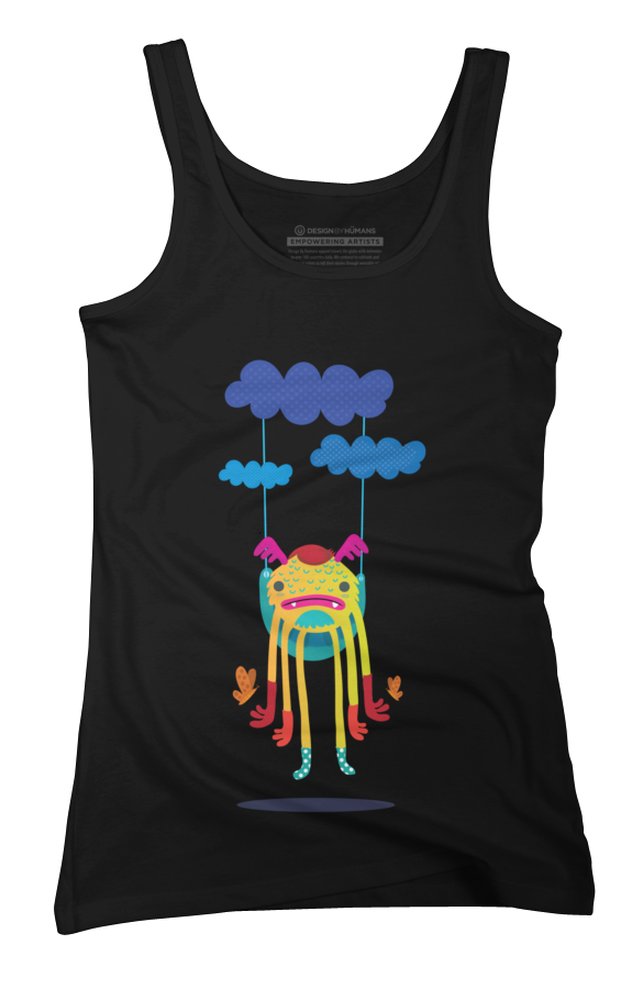 Monster in the sky Womens Tank Top