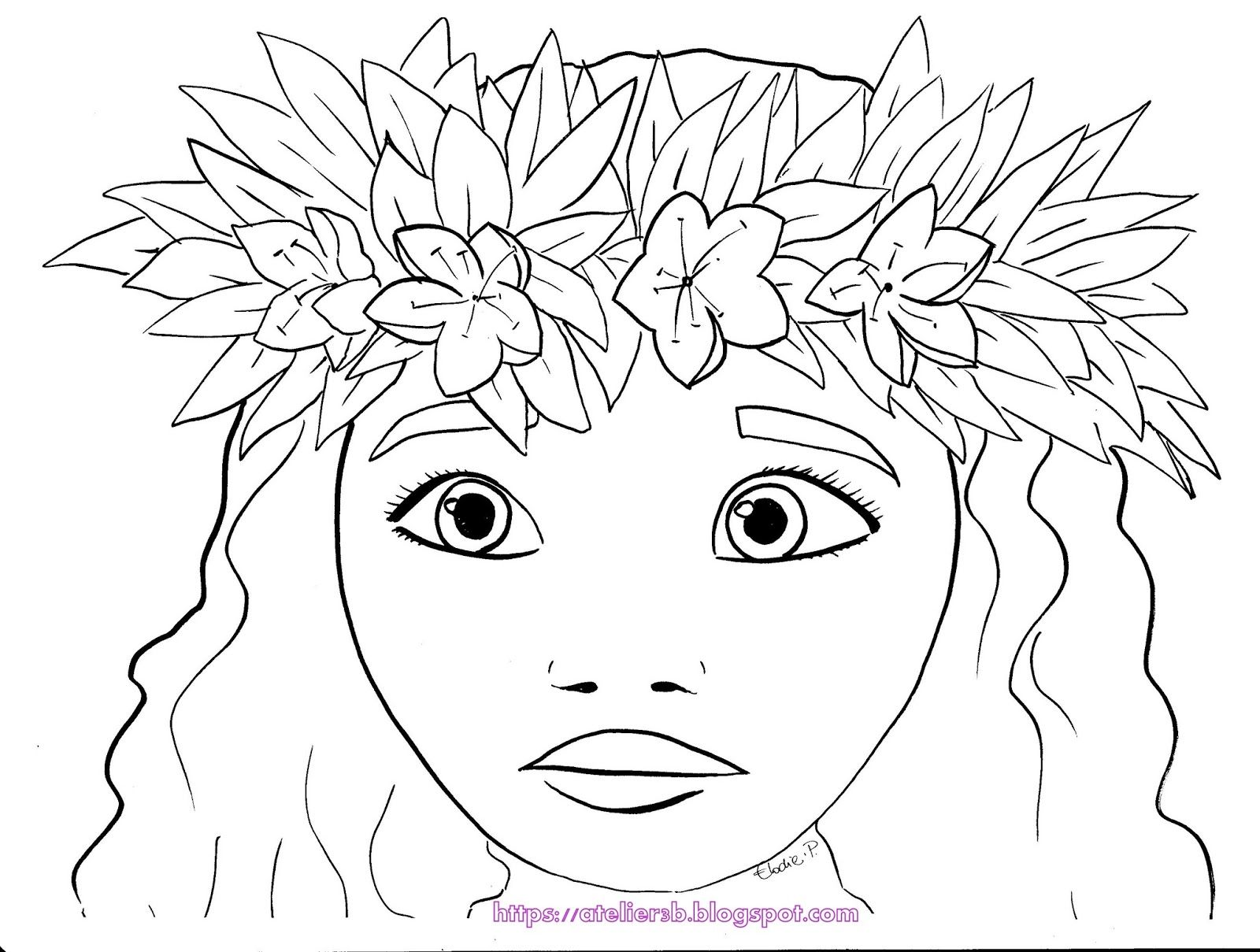 vaiana couronne de fleurs moana moana