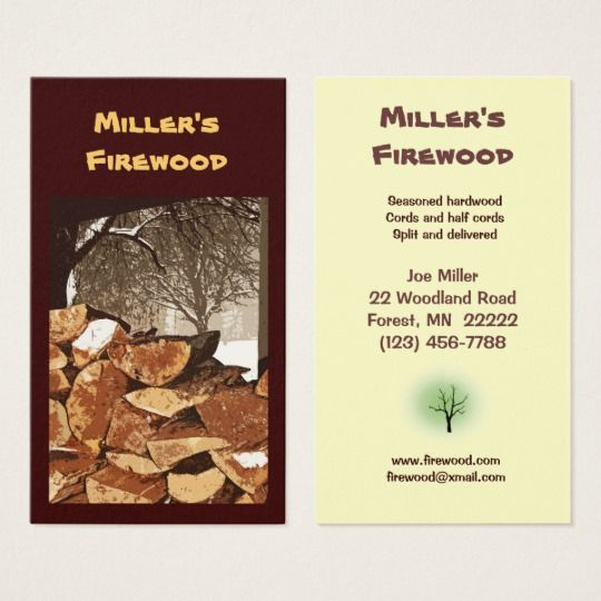 Firewood Business Card Zazzle Com Printing Double Sided Business Cards Firewood