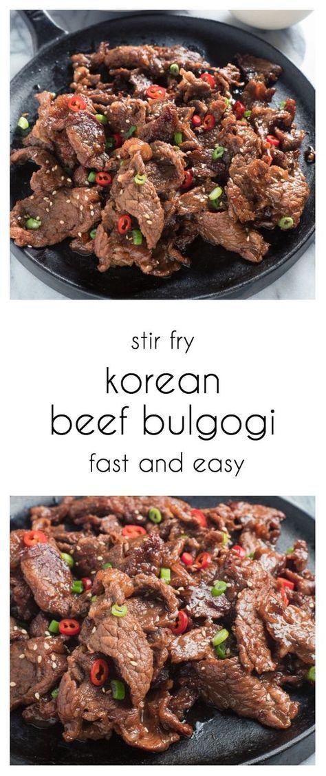 Easy korean beef bulgogi with ssamjang dipping sauce ...