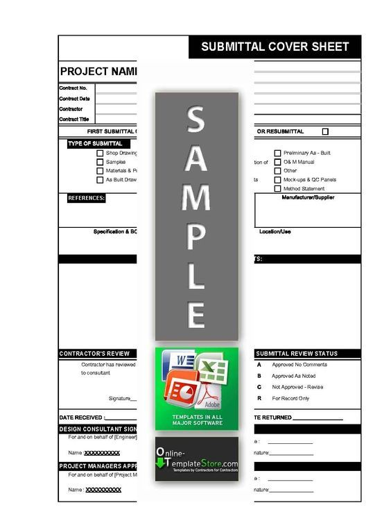 Material Drawing Sample Document submittal form in