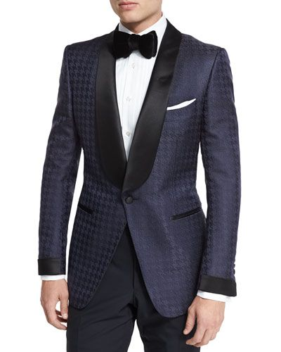 d2fea64118 O'Connor Base Houndstooth Jacquard Dinner Jacket Navy in 2019 ...