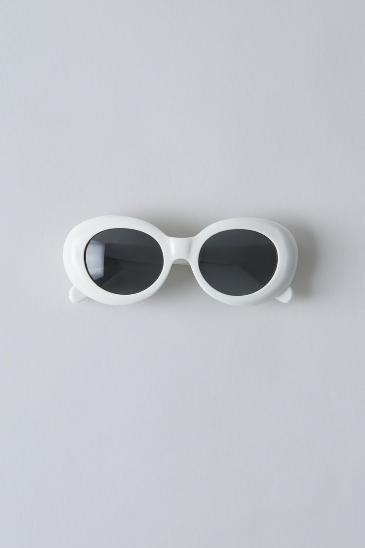 Oval acetate sunglasses off whiteblack $320 | Oval