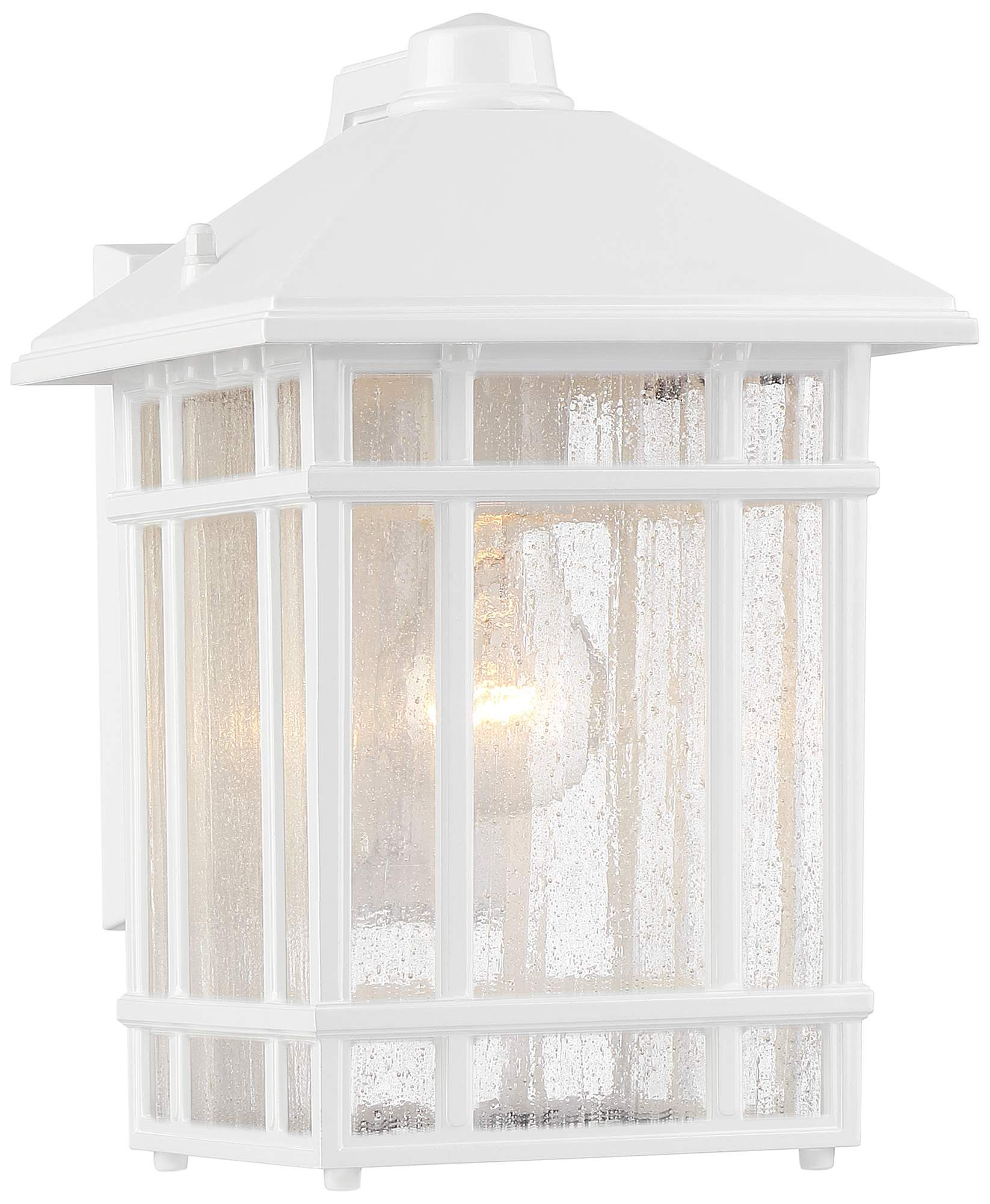 Jardin Du Jour 11 Inch High White Outdoor Wall Light