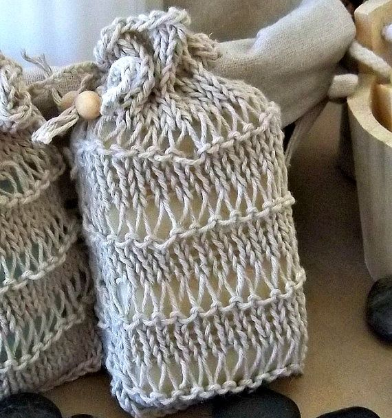 100 Hemp Hand Knit Soap Sack Cozy or Soap Saver by ...