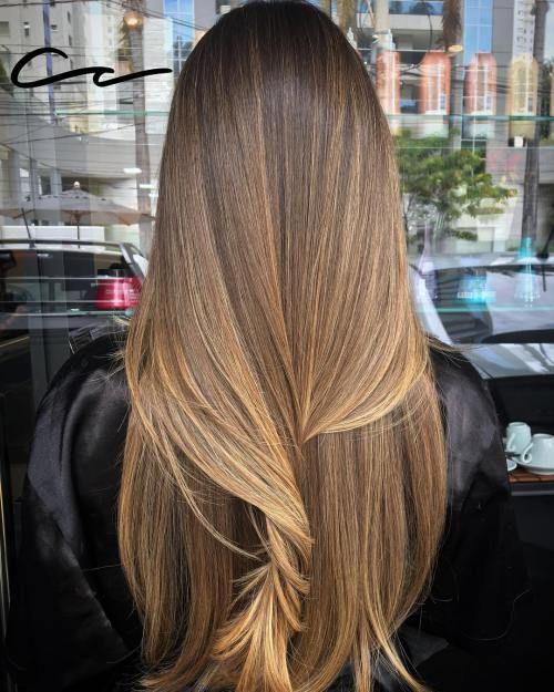 Haare hellbraune lange Lange Wellige