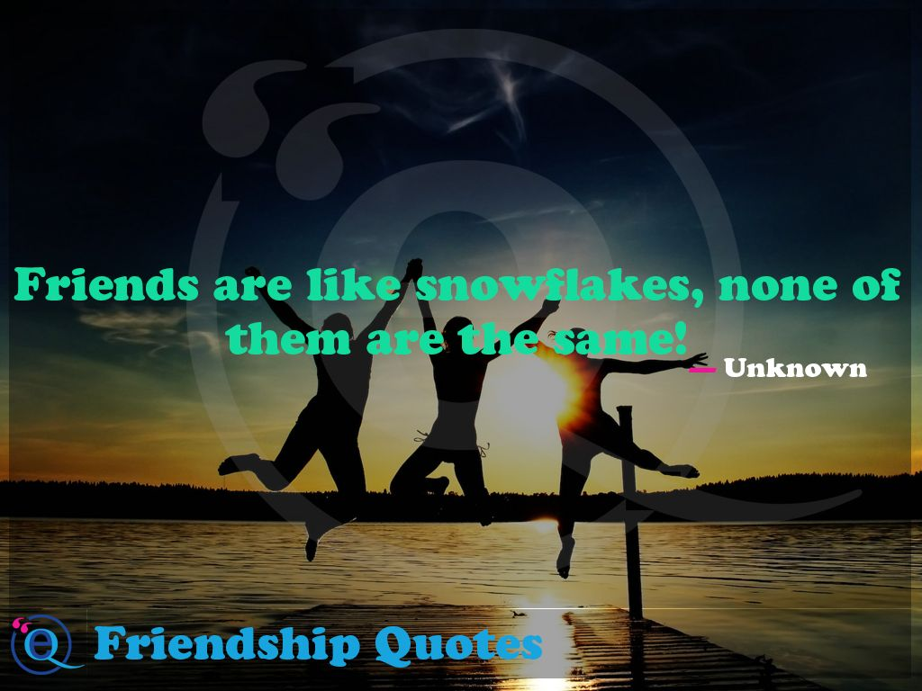 Friends Are Like Snowflakes None of Them Are the Same Friendship