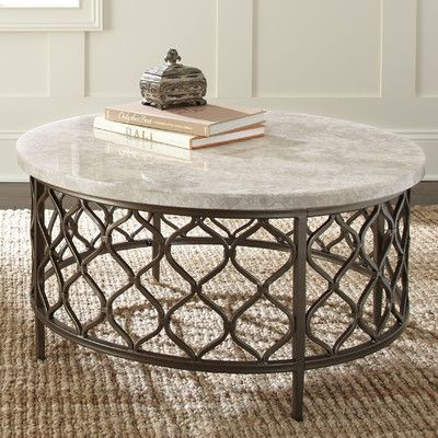 World Menagerie Akbar Coffee Table Stone Coffee Table Round