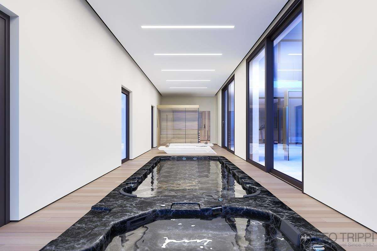 Une villa ultra moderne, vue mer | INDOOR SWIMMING POOL | Pinterest ...