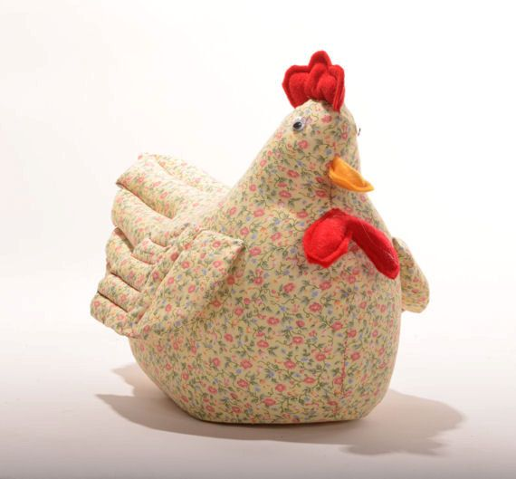 Yellow Calico Sewn Chicken Doorstop Etsy In 2021 Chicken Pattern Chicken Crafts Doorstop Pattern