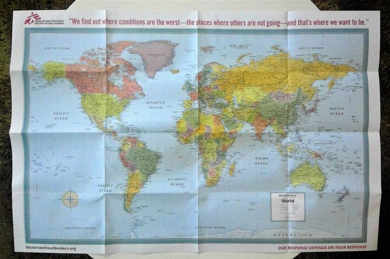 Doctors Without Borders World Map - 2016 | FREE ON LISTIA ... on
