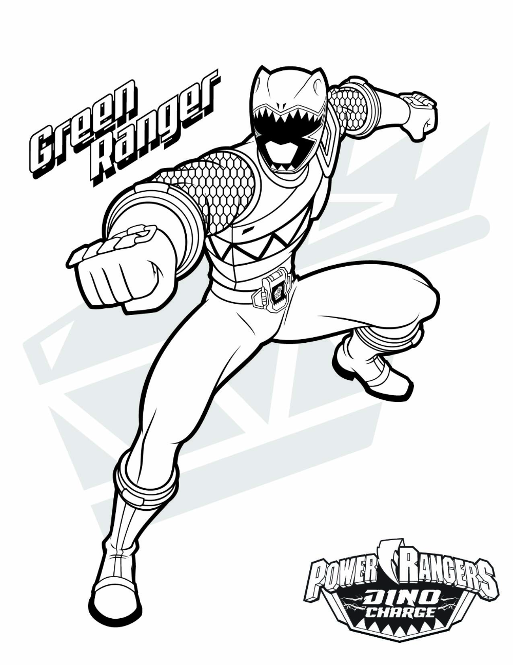 1275x1651 Power Rangers Dino Charge Drawing In 2020 Power Rangers Coloring Pages Green Power Ranger Power Rangers Dino