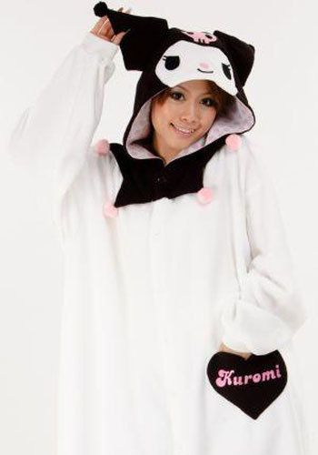 Cause some commotion at the next party with your New Kuromi Kigurumi costume!