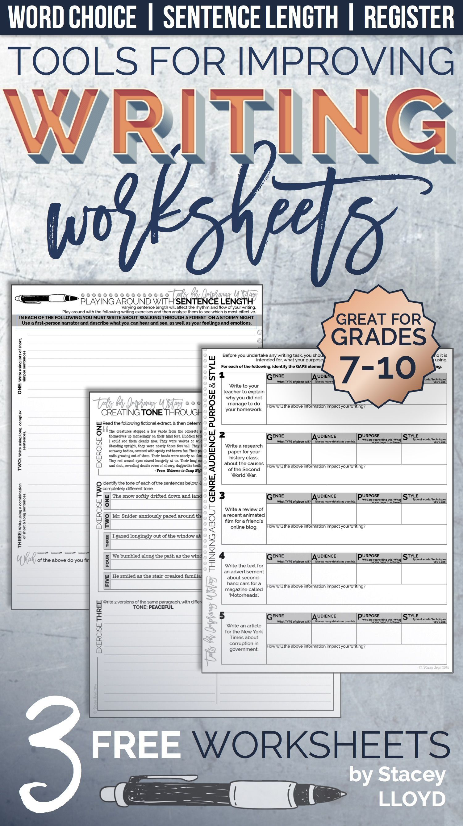 Free Tools For Improving Writing Worksheets 9th Grade