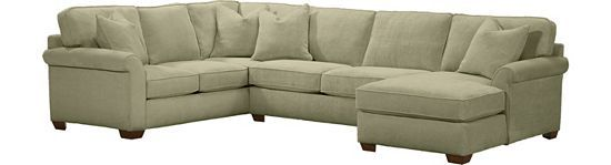 Piedmont (Mineral color) sectional Living Rooms, Piedmont ...