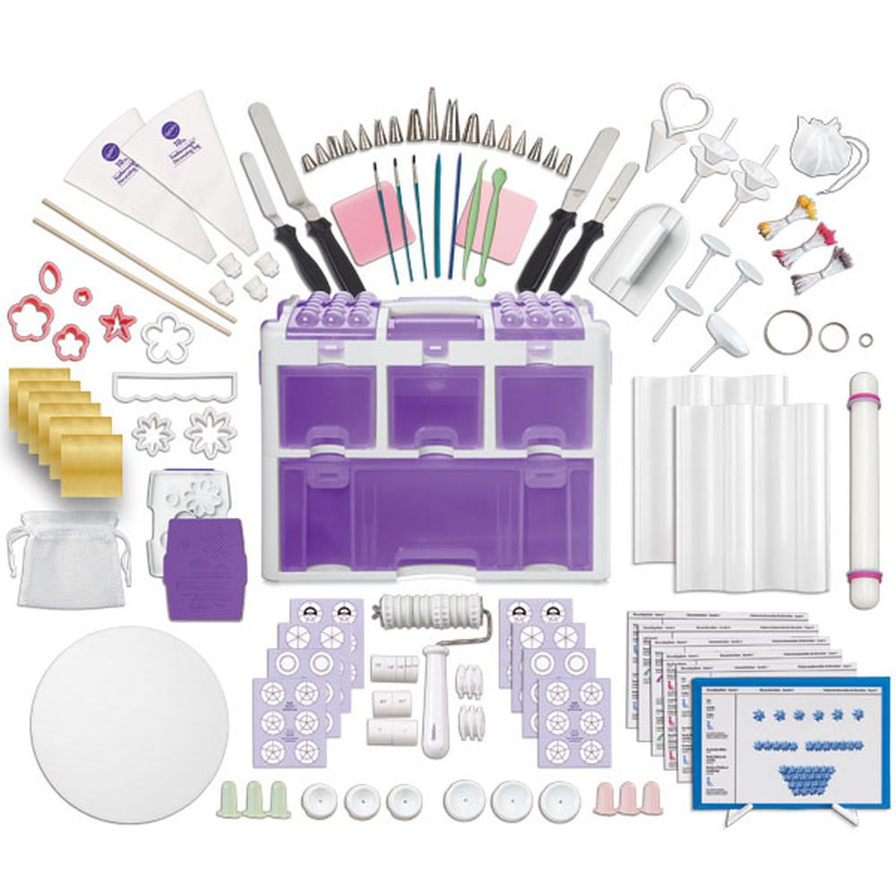 P With The Ultimate Professional Decorating Set You Ll Have Easy To Use Cake Decorating Tools Cake Decorating Set Cake Decorating Kits Wilton Cake Decorating
